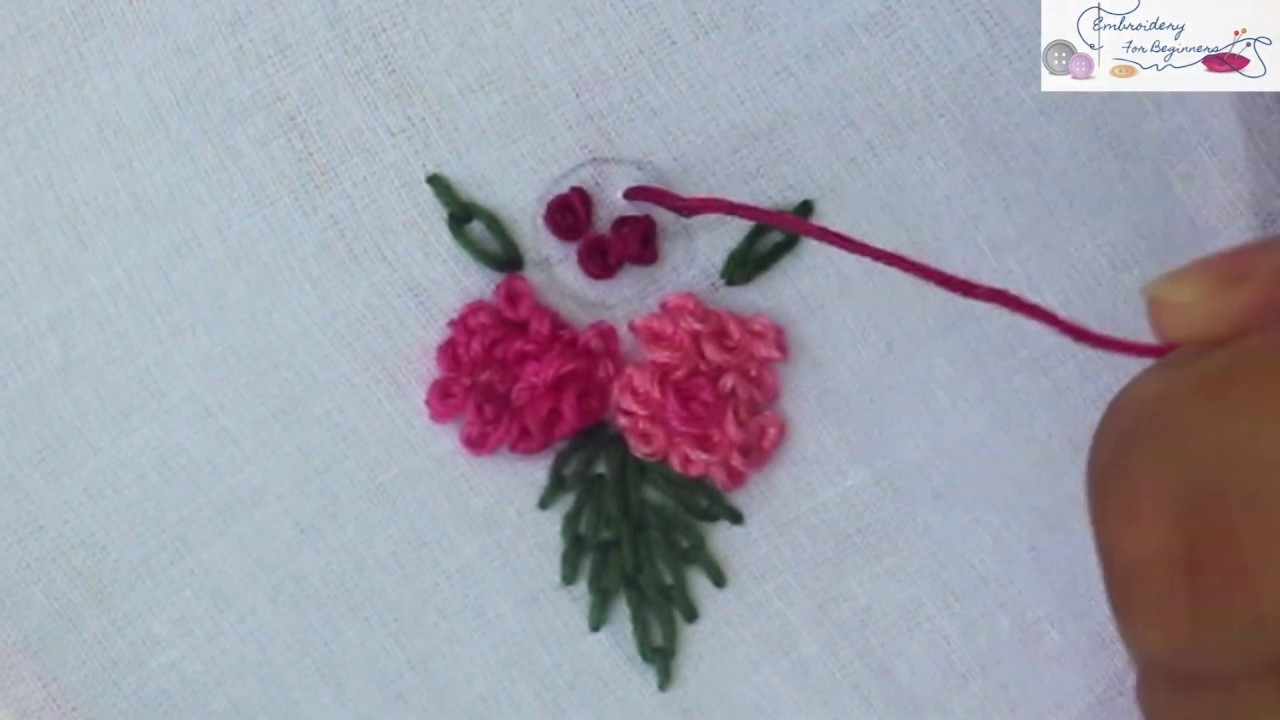 Knot Ring Knot In Hand Embroidery Stitches Tutorial Ring Knot In Hand Embroidery Stitches