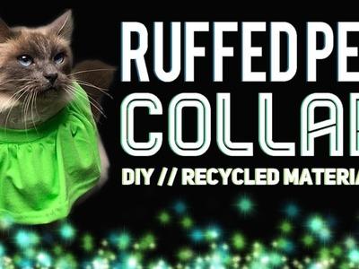 RUFFLED PET COLLAR DIY. UPCYCLING FABRIC SCRAPS