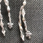 Silver Tubes Necklace & Earrings 164322