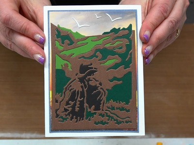 "#289 Learn Easy Paper Piecing , Using the Negative of a Die Cut & Heat Embossing with ""Stacey Tape"""