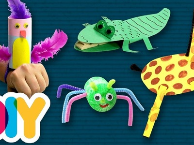 4 Easy JUNGLE ANIMALS Crafts you can do with your kid ???? Fast-n-Easy | DIY Arts & Crafts for Kids