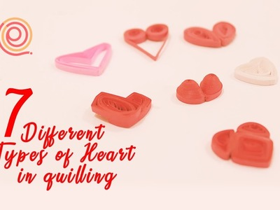 7 types of hearts using quilling | Valentine Day Special| PQP #40