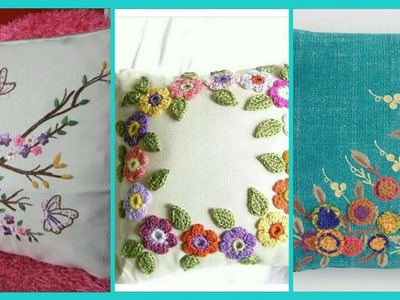 Beautiful hand embroidery design for cushion cover