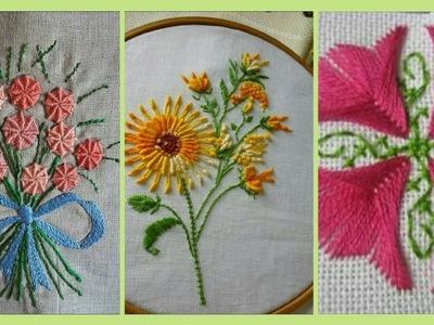 Hand hand embroidery.aplic work cushiontutorial.rilli work.applique