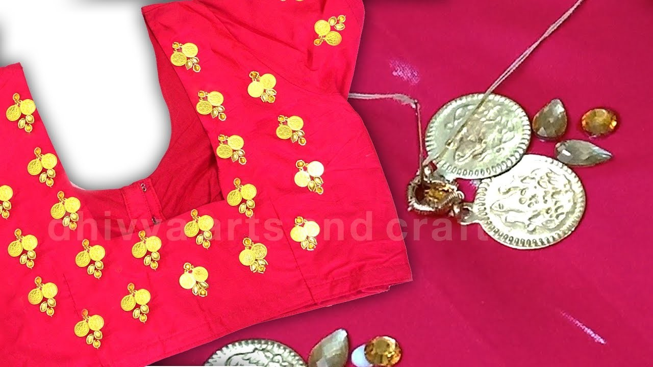 Beautiful hand embroidery on stitched blouse | normal stitching same like aari designs | diy | #217