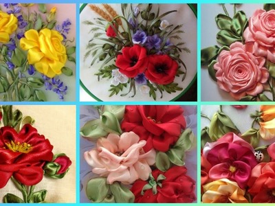 BeautifuL Ribbon Embroidery Designs || Hand Ribbon Embroidery