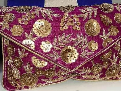 Fancy Clutch Bag Desings 2019    Hand Work Embroidery Designs    Bangladeshi Vlogger.