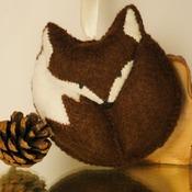 Felt Fox Pouch Purse Plush Soft Brown Animal Hanging Wildlife Pocket