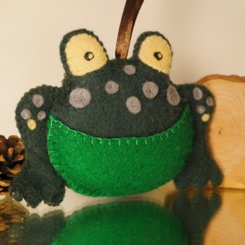 Felt Frog Pouch Purse Plush Soft Animal Hanging Wildlife Pocket