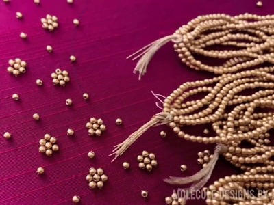 Hand Embroidery Bead Work Tutorial For Beginners