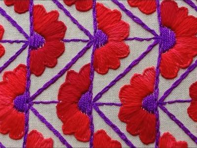 Hand Embroidery, Beautiful Nakshi Kantha drawing and stitching#33,नक्षी कंध सिलाई,নকশী কাঁথা সেলাই
