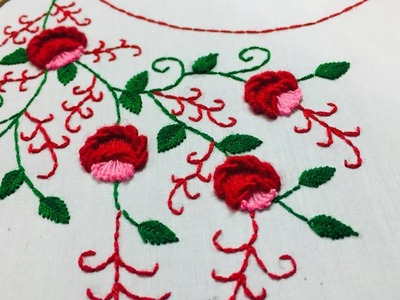 Hand Embroidery:beautiful neckline embroidery design by nakshi design art.