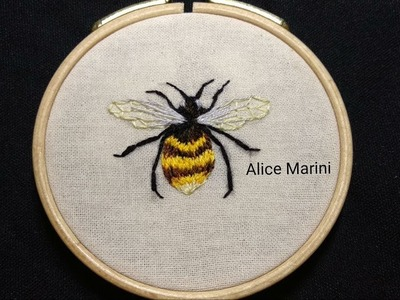 Hand Embroidery: Bee