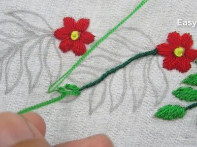 Hand embroidery,Border line design tutorial 9