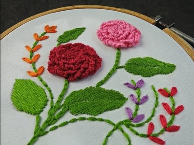Hand Embroidery | Brazilian Rose Embroidery | Brazilian Embroidery Tutorial For Beginners