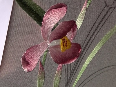 Hand embroidery chinese suzhou embroidery orchid(3) (broderie ricami)