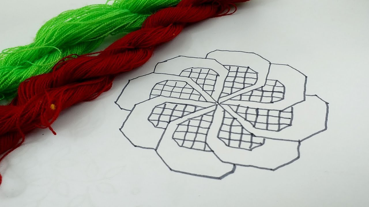 Hand embroidery cushion cover design by Nakshi katha