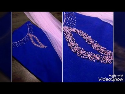 Hand embroidery design # How to do hand embroidery design