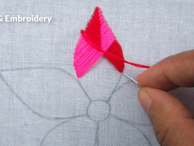 Hand Embroidery, Easy Flower Embroidery Tutorial, Simple Flower Design