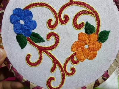 Hand embroidery easy stitch work beautiful design
