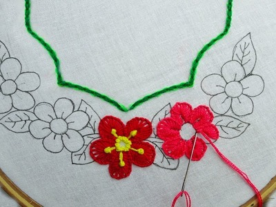 Hand Embroidery latest Neck line Stitch |hand embroidery for dress