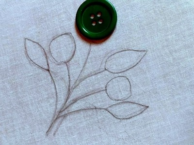 Hand Embroidery:Lazy daisy button flower embroidery trick,Amazing button flower trick