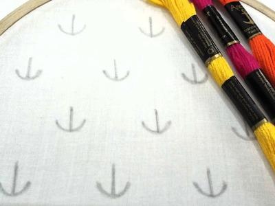 Hand embroidery of a allover design No.4