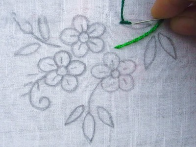 Hand Embroidery, Simple Flower Embroidery Tutorial