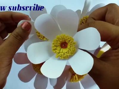Kagojer Fuldani Banano O Sajano _ Diy Paper Flower Vase Sleeve _ কাগজের ফুলের তোড়া।