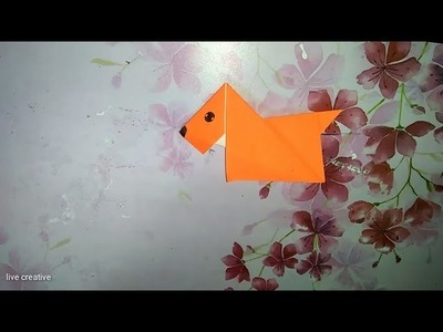 Origami paper dog