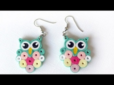 Quilling paper earing .new stylish quilling paper earing