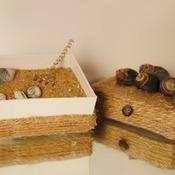 Sea Shell Sand Zen Garden Rope Box Desk Top Decor