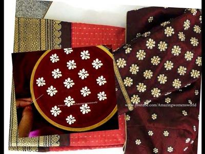 #35 బూటి  డిజైన్  చీర మరియు బ్లౌస్ కోసం || Small butis design for blouses and sarees Stylish Trends