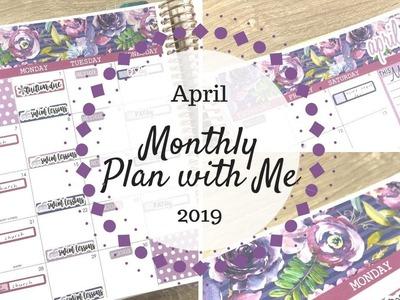 April 2019 Plan with Me   Erin Condren & Planner Kate  
