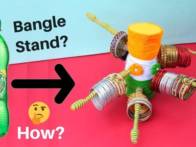 Bangle Stand making at Home with Waste Toothbrush & Plastic Bottle | Best out of Waste