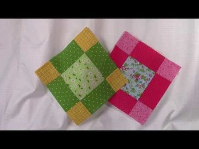 Block 1 Beginners Sampler Quilt 2019 - learn how to make a quilt