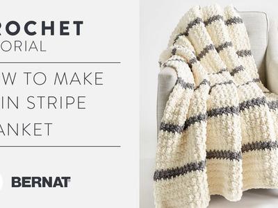 Crochet Textured Pin Stripe Blanket Tutorial