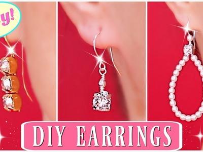 Diamond Earrings! How To Make Beaded Earrings - Swarovski Earrings. How to make earrings