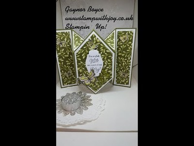 Diamond Fold Card Wonderful Romance  Stampin' Up!