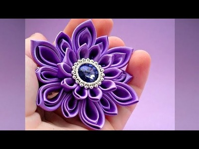 DIY Beautiful Fabric Flower , Satin Flower Tutorial