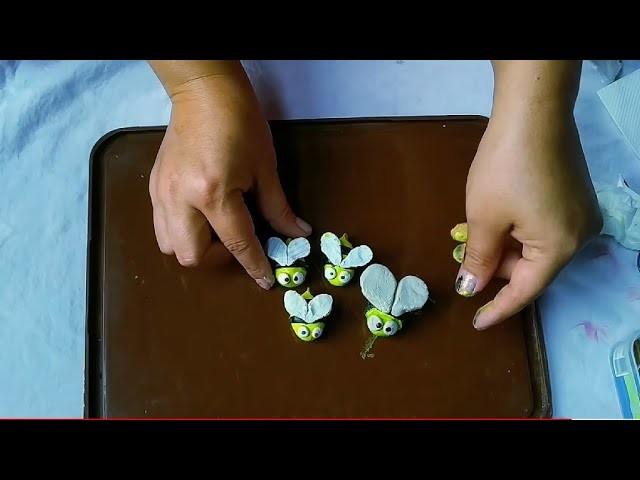 DIY clay honeybee ll How to make honeybee???? easy diy ll