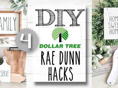 DIY Dollar Tree Rae Dunn Hacks | 4 PROJECTS!