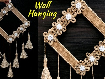 DIY Easy Room Decor Jute Wall Hanging | Showpiece Making Using Jute | Jute Rope Craft Idea