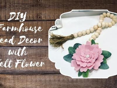 DIY Farmhouse Beads with Felt Flower  |  $3 to Make!