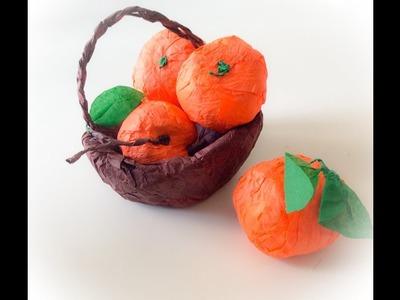 DIY petite panier en papier de soie. Little paper basket easter crafts.