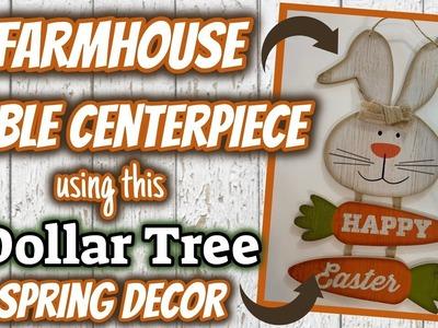 Dollar Tree DIY FARMHOUSE Spring TABLE CENTERPIECE | EASY Dollar Tree DIY