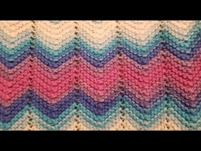Easy Garter Stitch Chevron Knitting Tutorial!