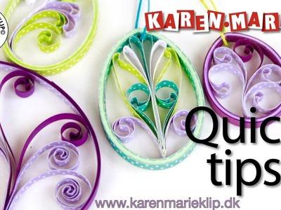 Elegant Quilling eggs (Quick Tip) - Karen Marie Klip & Papir