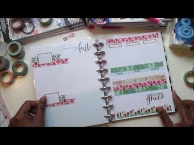 Faith Warrior || Happy Planner || Plan With Me || March 4 - 10 || ft. Park Lane Washi