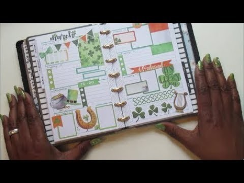 Foxy Mini Happy Planner || St. Patrick's Week || Plan With Me